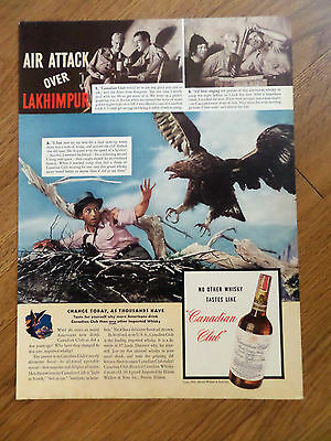 1941 Canadian Club Whiskey Ad Air Attack over Lakhimpur