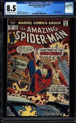 Amazing Spider-man 152 CGC 8.5 OWW Bronze Age Key Marvel Comic IGKC L@@K