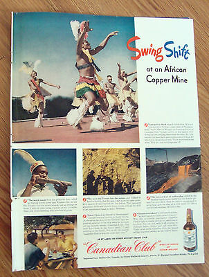 1948 Canadian Club Whiskey Ad Copper Mine Namaqualand 1948 Lucky Strike Ad