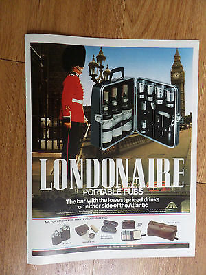 1978 Londonaire Portable Pubs Ad  The Bar with the Lowest Priced Drinks