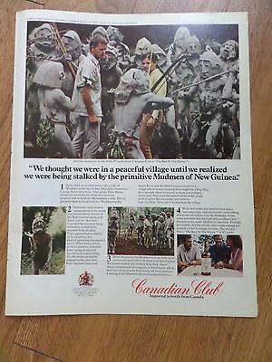 1971 Canadian Club Whisky Ad  Mudmen of New Guinea