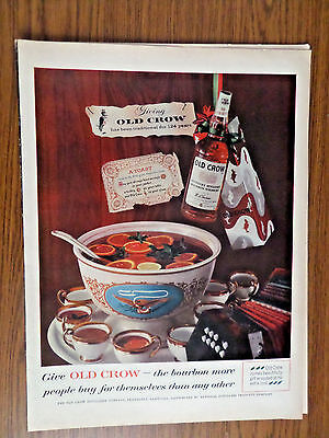 1959 Old Crow Whiskey Ad Christmas Theme