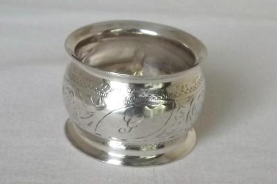 A Fine Antique Solid Sterling Silver Edwardian Napkin Ring Birmingham 1904.