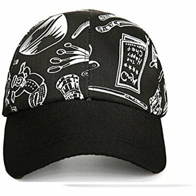 New Chef Works Cool Vent Collection Black Baseball Cap Hat