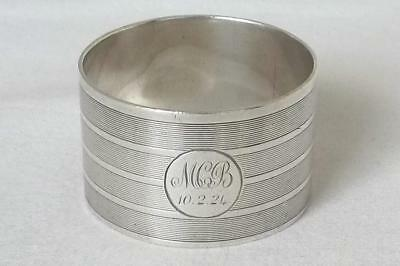 A Superb Antique Solid Sterling Silver Napkin Ring Birmingham 1921.