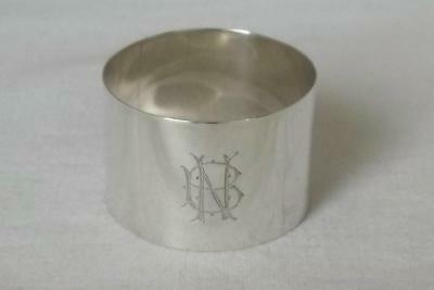 A SOLID SILVER INDIAN NAPKIN RING HAMILTON & Co CALCUTTA.