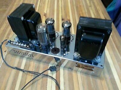 AMI Incorporated monophonic tube amplifier works, gorgeous, 5U4G, 5881, 6BA8A