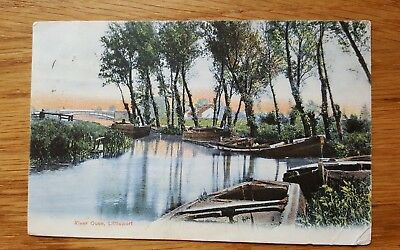 1906 Spencely Postcard River Ouse Littleport Cambridgeshire