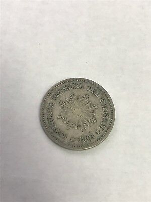 1901 A Uruguay 5 Centesimos Coin - VF Condition