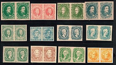 "USA STAMP - CSA CONFEDERATE STATE  'Facsimile"" PAIR Stamps Lot  MNH"