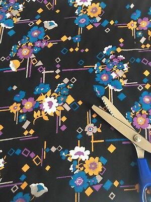 Vintage 1960's Beautiful Unused Dress Making Fabric.All Over Floral Design.