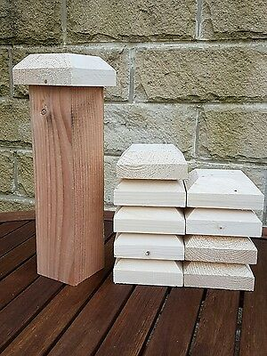 """10 heavy duty fence or decking  post caps  4""""x4""""x1 1/2"""" to suit 3""""x3"""" posts."""