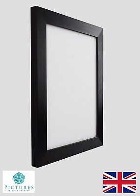 "Black Photo Picture Poster Panoramic Frames 3x3""-12x36"" A6-A3 +cm Frame Sizes"