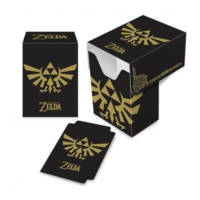 Ultra Pro The Legend of Zelda: Black and Gold Full View Deck Box - Brand New!