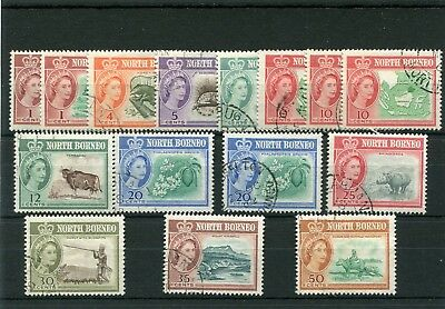 North Borneo.15 -- 1961  Fine Used Stamps On Stockcard