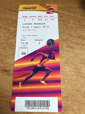 athletics world championship ticket 2017 monday 7th evening session