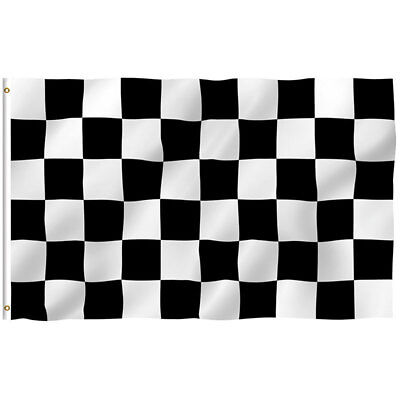 Black White Checkered Racing Flag Indoor Car Motor Race Party Flags Banner