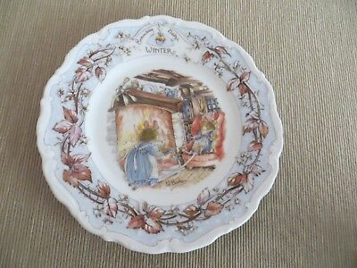 Royal Doulton 'Brambly Hedge' Tea Plate - WINTER