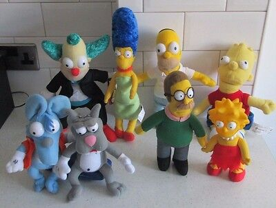 Simpsons Bart Homer Lisa Marge Ned Krusty Itchy & Scratchy Plush Soft Toys