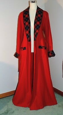 Vintage Pendleton 100% Pure Virgin Wool Robe Rustic Red With Plaid XL/XXL Unisex
