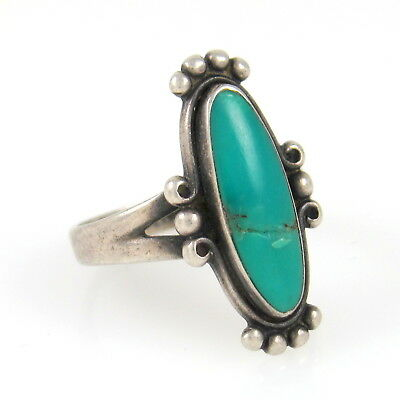 Southwestern Sterling Silver Turquoise Ring BELL TRADING POST 7.5 | RS A
