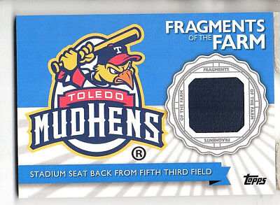 2016 Topps Pro Debut Stadium Seat From Fifth Third Field Fragments of the Farm