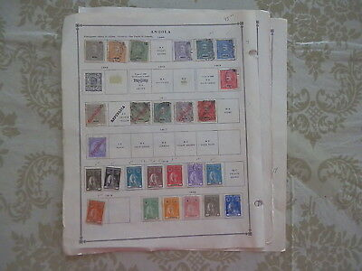 Angola Excellent Old Collection 1898-1938 On Pages Dr Schultz Estate !!8934A