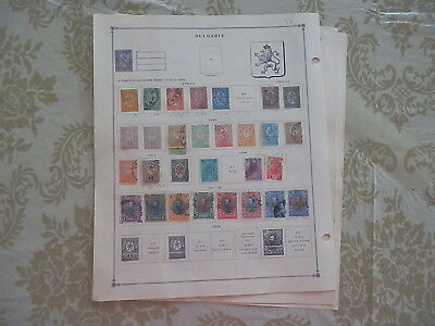 Bulgaria Excellent Old Collection 1879-1940 On Pages Dr Schultz Estate !!8930B