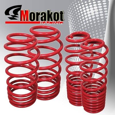 "New Jdm Sport 92-01 Honda Prelude 2.25"" Drop lower lowering Spring Set Kit Red"