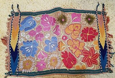 """Vintage Mexican Embroidered Mat - 12"""" By 18"""""""