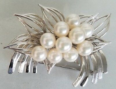 Sterling Silver And Culture Pearl Brooch