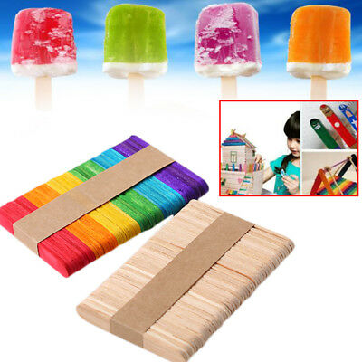 Colorful Wooden Popsicle Stick Cake Lolly Handi Carft Art kids Children Work