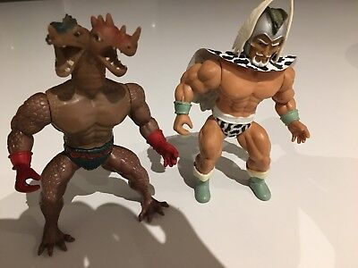 Remco Warrior Beasts Lost Warlord figure and Hydraz figure vintage 1980s