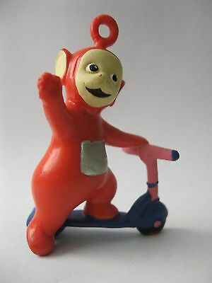 PO ON SCOOTER stamped Ragdoll 1996 Teletubbies PVC Figure about 2.75 inches tall