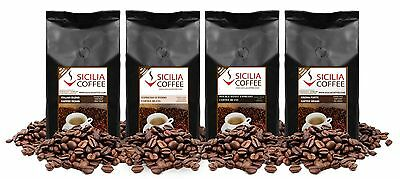 1kg STRONG SAMPLER Coffee Beans - 4 x 250g Medium-dark Roasted, FREE POSTAGE
