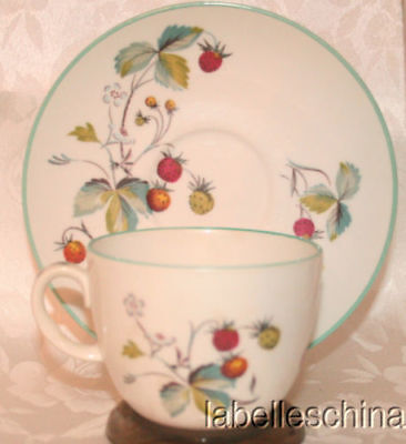 Royal Worcester England Strawberry Fair Tea Cup and Saucer Fine English China