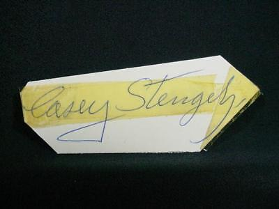 NobleSpirit NO RESERVE {3970} Casey Stengel Autograph on Index Card
