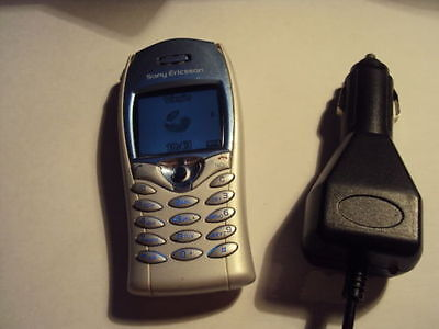 Sony Ericsson T68I Mobile Phone On T-Mobile/virgin+Car Charger
