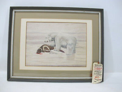 1800s-1926 Inuit/Sailor Embroidery Maritime Wool Work Woolie Polar Bear Seal yqz