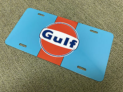 Gulf racing ford gt porsche gt40 license plate tag retro vintage reproduction