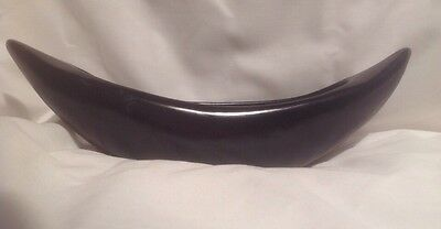 Retro Raynham Trough or Float Vase - Boat Shaped - Flat Black, Great Condition