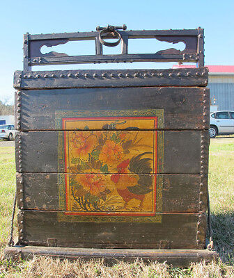 Qing Ningbo Vernacular Furniture Strong Wedding Stacking Trunk Chest Dowry  yqz