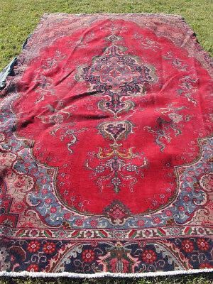 Estate! Antique c 1920's Hand Knotted European Style Turkish Area Rug Carpet yqz