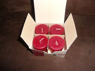 Longaberger Votive Candles 4 Pack - All American Berry