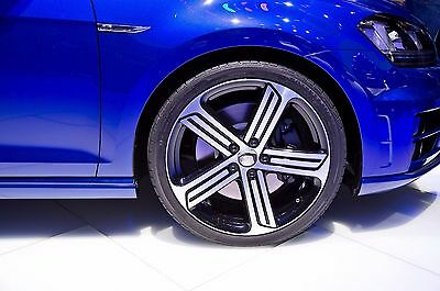 18 inch APEC R-7 WHEELS AND TYRES VW GOLF LIMITED STOCK BLACK