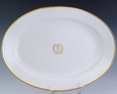 Rare Huge 1845 Sevres King Louis Philippe Chateau Des Tuileries Platter Tray