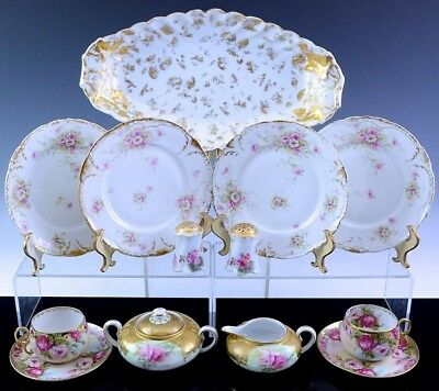 Very Nice Estate Lot Antique Limoges Royal Vienna Bowls Plates Cream & Sugar ++