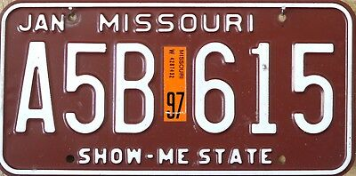 USA Number Licence Plate MISSOURI 80s SHOW ME STATE