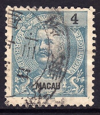 MACAU 1898 4a CANCELLED CHINESE LARGE TYPE CDS
