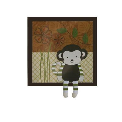 CoCaLo Baby 3686 Nali Jungle Brown Applique Baby Boy Monkey Wall Decor BHFO